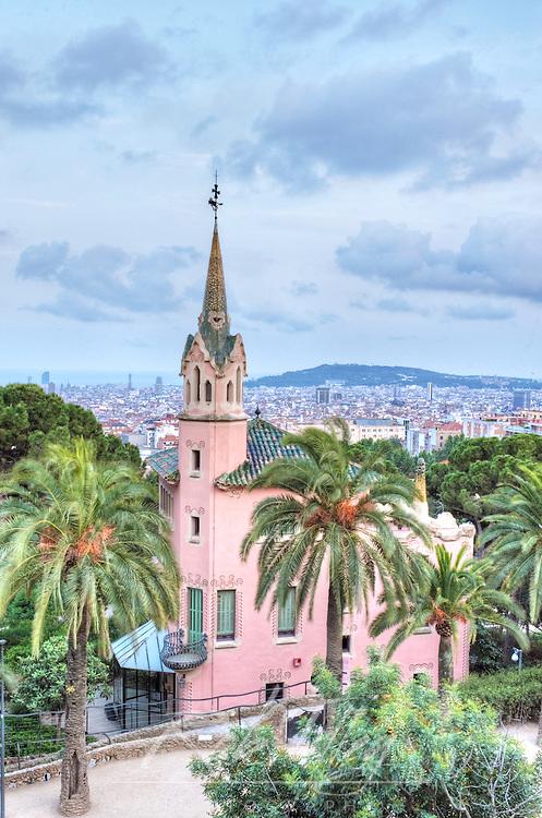 Europe, Spain, Catalonia, Barcelona, Park Guell, Gaudi House Museum