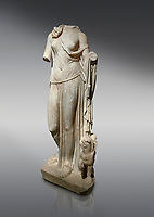 Roman statue of Nemesis. Marble. Perge. 2nd century AD. Inv no; . Antalya Archaeology Museum; Turkey.
