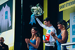 Giulio Ciccone (ITA) Trek-Segafredo retains the young riders White Jersey at the end of Stage 8 of the 2019 Tour de France running 200km from Macon to Saint-Etienne, France. 13th July 2019.<br /> Picture: ASO/Thomas Maheux   Cyclefile<br /> All photos usage must carry mandatory copyright credit (© Cyclefile   ASO/Thomas Maheux)