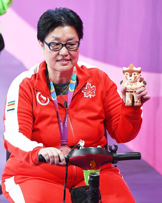 Stephanie Chan, Lima 2019 - Para Table Tennis // Para tennis de table.<br /> Stephanie Chan wins bronze in Para Table Tennis // Stephanie Chan remporte le bronze en para tennis de table. 24/08/2019.