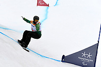 Day 7 / Snowboard banked SL. / SEAN POLLARD (AUS)<br /> PyeongChang 2018 Paralympic Games<br /> Australian Paralympic Committee<br /> PyeongChang South Korea<br /> Friday March 16th 2018<br /> © Sport the library / Jeff Crow