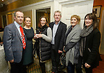 John and Shelly Galvin of The Clare Champion with Lorraine and Niall O Flaherty of Flaherty Electric and Gwen Culligan and Maeve Culligan of the County Boutique at the announcement of the winners of the annual Clare Champion Christmas Shop Window Display competition in the Old Ground hotel, Ennis. Photograph by John Kelly.