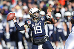 Navy Midshipmen quarterback Keenan Reynolds (19) in action during the Armed Forces Bowl game between the Middle Tennessee Blue Raiders and the Navy Midshipmen at the Amon G. Carter Stadium in Fort Worth, Texas. Navy defeated Middle Tennessee 24 to 6.