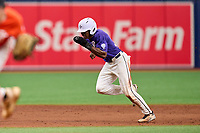 Michael Gupton (30) during the Perfect Game National Showcase on July 16, 2021 at Tropicana Field in St. Petersburg, Florida.  Michael Gupton, of Raleigh, North Carolina, attends Rolesville High School and is committed to North Carolina State.  (Mike Janes/Four Seam Images)