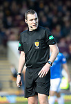 Motherwell v St Johnstone….30.03.19   Fir Park   SPFL<br />Referee Euan Anderson<br />Picture by Graeme Hart. <br />Copyright Perthshire Picture Agency<br />Tel: 01738 623350  Mobile: 07990 594431