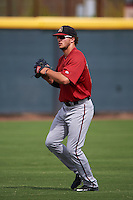 Arizona Diamondbacks Grant Heyman (45) during an instructional league game against the Texas Rangers on October 10, 2015 at the Salt River Fields at Talking Stick in Scottsdale, Arizona.  (Mike Janes/Four Seam Images)