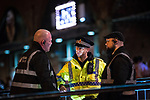 "© Joel Goodman - 07973 332324 . 16/11/2015 . Manchester , UK . Police and security at the event . Annual student pub crawl "" Carnage "" at Manchester's Deansgate Locks nightclubs venue . The event sees students visit several clubs over the course of an evening . This year's theme is "" Animal Instinct - unleash your beast "" . Photo credit : Joel Goodman"