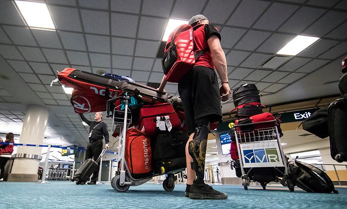 PyeongChang 2018.<br /> Athletes return home to Canada after the 2018 Paralympic Games // Les athlètes rentrent chez eux au Canada après les Jeux d'hiver de PyeongChang 2018. 19/03/2018.