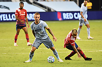KANSAS CITY, KS - SEPTEMBER 02: Johnny Russell #7 of Sporting Kansas City on the ball during a game between FC Dallas and Sporting Kansas City at Children's Mercy Park on September 02, 2020 in Kansas City, Kansas.