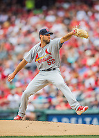 29 May 2016: St. Louis Cardinals starting pitcher Michael Wacha on the mound against the Washington Nationals at Nationals Park in Washington, DC. The Nationals defeated the Cardinals 10-2 to split their 4-game series. Mandatory Credit: Ed Wolfstein Photo *** RAW (NEF) Image File Available ***