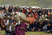 Strong man competition. In Tibet's province of Nakchu in Tibet hosts many festivals throughout the year, but one stands out more than any other; it is the highest horse racing festival in the world – a spectacle of colour, festivities and endurance for participants and visitors alike.<br />