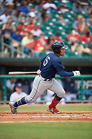 Mobile BayBears Jahmai Jones (15) during a Southern League game against the Montgomery Biscuits on May 2, 2019 at Riverwalk Stadium in Montgomery, Alabama.  Mobile defeated Montgomery 3-1.  (Mike Janes/Four Seam Images)