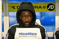 Saturday 25 January 2014<br /> Pictured: Wilfried Bony of Swansea<br /> Re: Birmingham City v Swansea City FA Cup fourth round match at St. Andrew's Birimingham