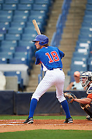 Jack Weisenburger (18) of Rockford High School in Rockford, Michigan playing for the Chicago Cubs scout team during the East Coast Pro Showcase on July 28, 2015 at George M. Steinbrenner Field in Tampa, Florida.  (Mike Janes/Four Seam Images)