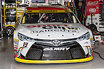 Sprint Cup Series driver Carl Edwards (19) car gets ready for practice before during the Nascar's NXS O'Reilly Auto Parts Challenge at Texas Motor Speedway in Fort Worth,Texas.