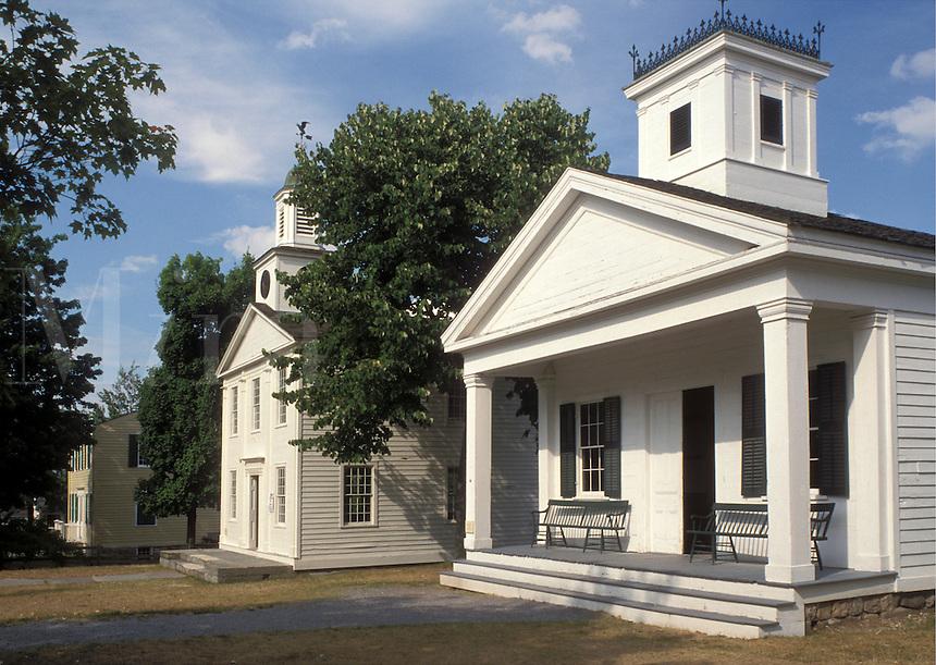 NY, New York, Mumford, Romulus Female Seminary & Town Hall at Genesee Country Village & Museum