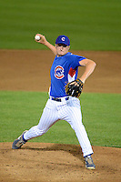 Pitcher Jayce Vancena (11) of Lake High School in Millbury, Ohio playing for the Chicago Cubs scout team during the East Coast Pro Showcase on July 31, 2013 at NBT Bank Stadium in Syracuse, New York.  (Mike Janes/Four Seam Images)