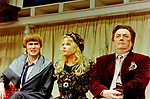 Black Comedy by Peter Shaffer, directed by Gregory Doran. With David Tennant as Brindsley, Sara Crowe as Clea,  Desmond Barrit as Harold Gorringe. Opened at The Comedy Theatre 22/4/98. CREDIT Geraint Lewis