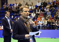 15-12-12, Rotterdam, Tennis Masters 2012, Jan Siemerink spreekt het publiet toe.