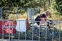 Denise Betsema (NED/Pauwels Sauzen - Bingoal) on her way to victory<br /> <br /> Elite Women's Race<br /> 2021 UCI cyclo-cross World Cup - Zonhoven (BEL)<br /> <br /> ©kramon