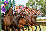 OCEANPORT, NJ - JULY 02: Thhe break of the 8th race at Monmouth Park, July 2, 2016 in Oceanport, New Jersey. (Photo by Sue Kawczynsk/Eclipse Sportswire/Getty Images)