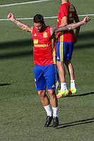 Spanish footbal Sergio Ramos team durign the first training of the concentration of Spanish football team at Ciudad del Futbol de Las Rozas before the qualifying for the Russia world cup in 2017 August 29, 2016. (ALTERPHOTOS/Rodrigo Jimenez) /NORTEPHOTO