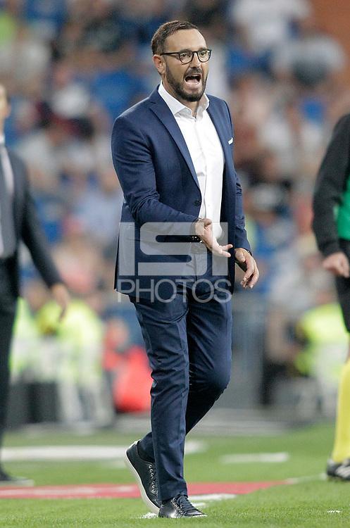 Getafe CF's coach Jose Bordalas during La Liga match. August 19,2018.  *** Local Caption *** © pixathlon<br /> Contact: +49-40-22 63 02 60 , info@pixathlon.de