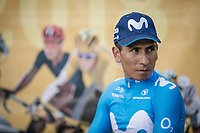 Naïro Quintana (COL/Movistar) awaiting the Team Presentation.<br /> <br /> Le Grand Départ 2018<br /> 105th Tour de France 2018<br /> ©Kramon