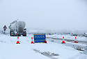 25/11/17<br /> <br /> After getting stuck in the snow, lorries block the A515 near Biggin in the Derbyshire Peak District.<br />  <br /> All Rights Reserved F Stop Press Ltd. +44 (0)1335 344240 +44 (0)7765 242650  www.fstoppress.com