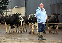 Laurence Harris of Daioni, an organic milk farm near Boncath in Pembrokeshire, Wales, UK. Friday 17 November 2017