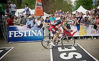 crossing the finish line in 10th position: Philippe Gilbert (BEL/BMC)<br /> <br /> La Flèche Wallonne 2014