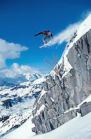 Snowboard in French Alpes