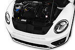 Car Stock 2017 Volkswagen Beetle Dune 3 Door Hatchback Engine  high angle detail view
