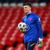 25th March 2021; Wembley Stadium, London, England;  Goalkeeper Nick Pope England during warm up prior to the World Cup 2022 Qualification match between England and San Marino at Wembley Stadium in London, England.