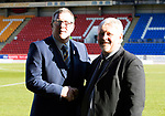St Johnstone v Hamilton Accies…26.10.19   McDiarmid Park   SPFL<br />Associate Director Roddy Grant pictured with his former manager at St Johnstone Paul Sturrock.<br />Picture by Graeme Hart.<br />Copyright Perthshire Picture Agency<br />Tel: 01738 623350  Mobile: 07990 594431
