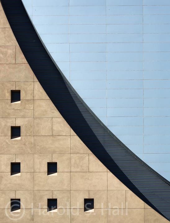 Buildings make an abstract design in Las Vegas, Nevada.
