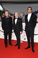 Shaun Dooley, David Carlyle and Nathaniel Curtis<br /> arriving for the National Television Awards 2021, O2 Arena, London<br /> <br /> ©Ash Knotek  D3572  09/09/2021