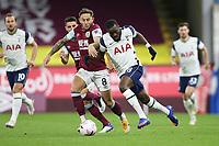 26th October 2020, Turf Moor, Burnley UK; EPL Premier League football, Burnley v Tottenham Hotspur; Burnley midfielder Josh Brownhill (8) and Tottenham Hotspur midfielder Tanguy NDombele (28)