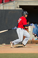 Daniel Oxendine (67) of Lumberton High School in Lumberton, North Carolina playing for the Boston Red Sox scout team at the South Atlantic Border Battle at Doak Field on November 2, 2014.  (Brian Westerholt/Four Seam Images)