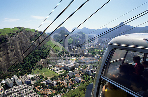 Rio de Janeiro, Brazil. Rio from the Sugar Loaf cable car.