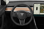 Car pictures of steering wheel view of a 2018 Tesla Model 3 Long Range 4 Door Sedan