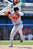 Brooklyn Cyclones designated hitter Jeff Diehl (24) at bat during a game against the Batavia Muckdogs on August 10, 2014 at Dwyer Stadium in Batavia, New York.  Brooklyn defeated Batavia 5-2.  (Mike Janes/Four Seam Images)