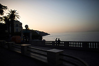 The sun sets over the Gulf of Naples on Thursday, Sept. 17, 2015, in Sorrento, Italy. (Photo by James Brosher)