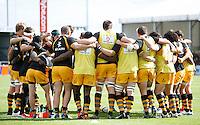 Photo: Richard Lane/Richard Lane Photography. Exeter Chiefs v London Wasps. Aviva Premiership. 14/09/2013.  Wasps huddle.