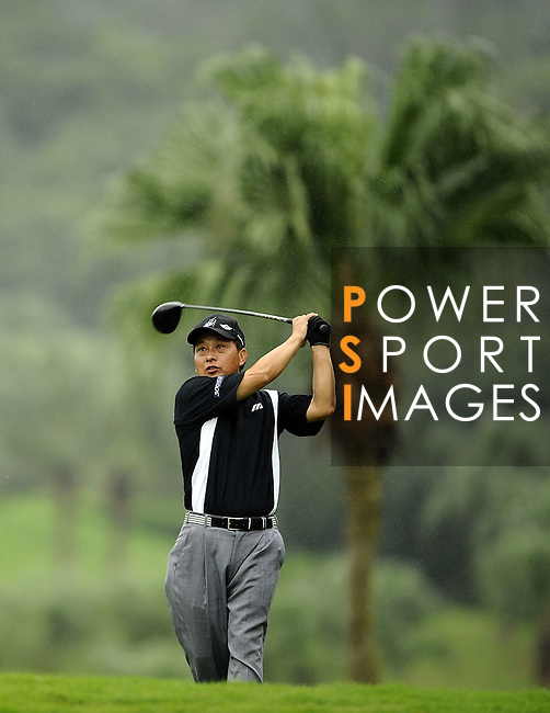 TAIPEI, TAIWAN - NOVEMBER 19:  Shih-Ming Huang of Taiwan tees off on the 6th hole during day two of the Fubon Senior Open at Miramar Golf & Country Club on November 19, 2011 in Taipei, Taiwan. Photo by Victor Fraile / The Power of Sport Images