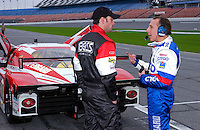 .Jimmie Johnson talks with Andy Wallace