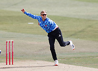 Danny Briggs bowls for Sussex during Kent Spitfires vs Sussex Sharks, Vitality Blast T20 Cricket at The Spitfire Ground on 12th September 2020