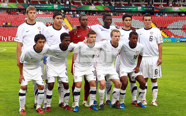 .Action photo of USA team, during game of the FIFA Under 17 World Cup game, held at Queretaro.