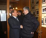 """SILVIO BERLUSCONI CON PIERFERDINANDO CASINI<br /> 75° COMPLEANNO DI LINO JANNUZZI - """"DA FORTUNATO AL PANTHEON"""" ROMA 2003"""
