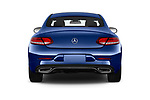 Straight rear view of 2018 Mercedes Benz C-Class C300 2 Door Coupe Rear View  stock images